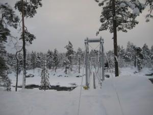 The path of the river Juutua in Inari.