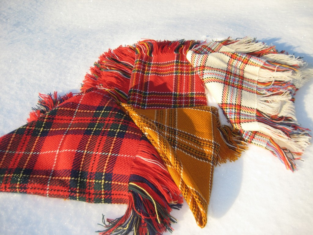 Shawls on the snow.