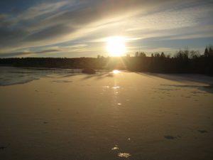 The last glimmer of sun.